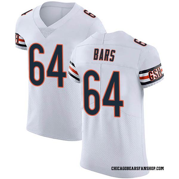 Alex Bars Chicago Bears Elite White Vapor Untouchable Jersey