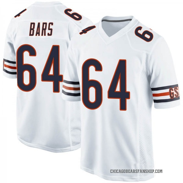 Alex Bars Chicago Bears Game White Jersey