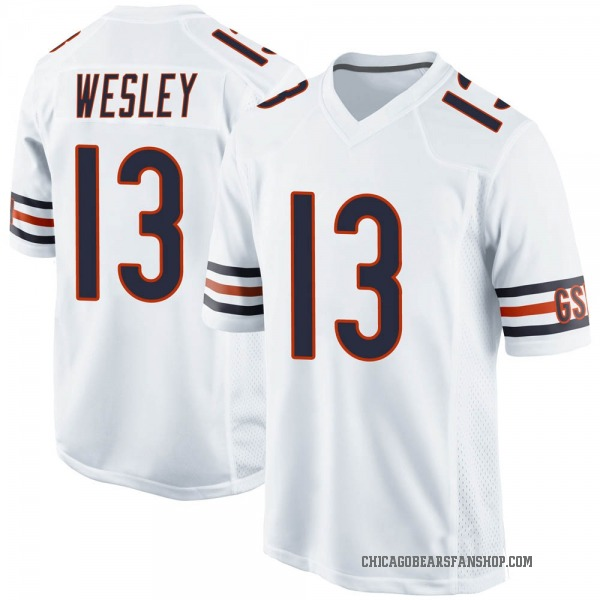 Alex Wesley Chicago Bears Game White Jersey