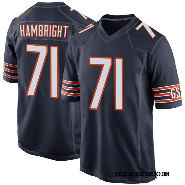 Arlington Hambright Chicago Bears Game Navy Team Color Jersey