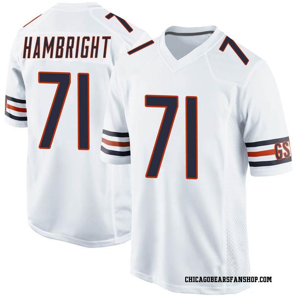 Arlington Hambright Chicago Bears Game White Jersey