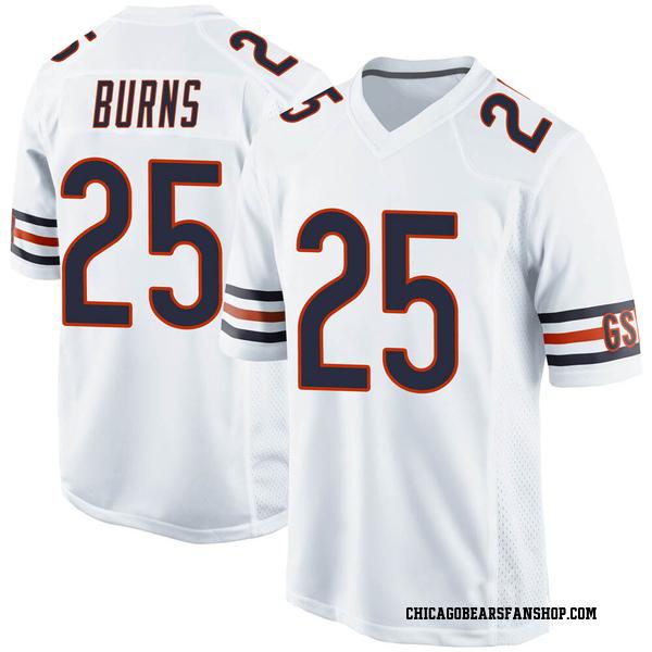Artie Burns Chicago Bears Game White 100th Season Jersey