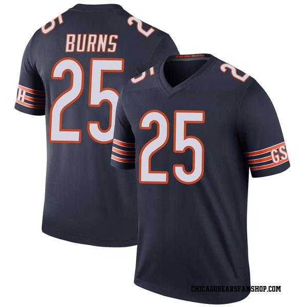 Artie Burns Chicago Bears Legend Navy Color Rush Jersey