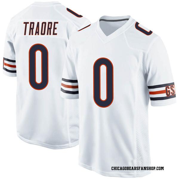 Badara Traore Chicago Bears Game White Jersey