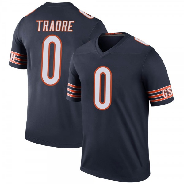Badara Traore Chicago Bears Legend Navy Color Rush Jersey