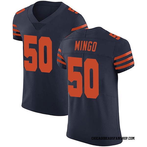 Barkevious Mingo Chicago Bears Elite Navy Blue Alternate Vapor Untouchable Jersey