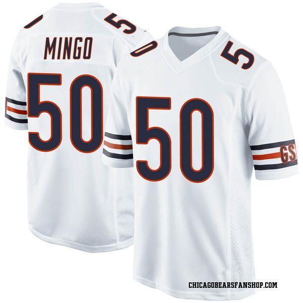 Barkevious Mingo Chicago Bears Game White Jersey