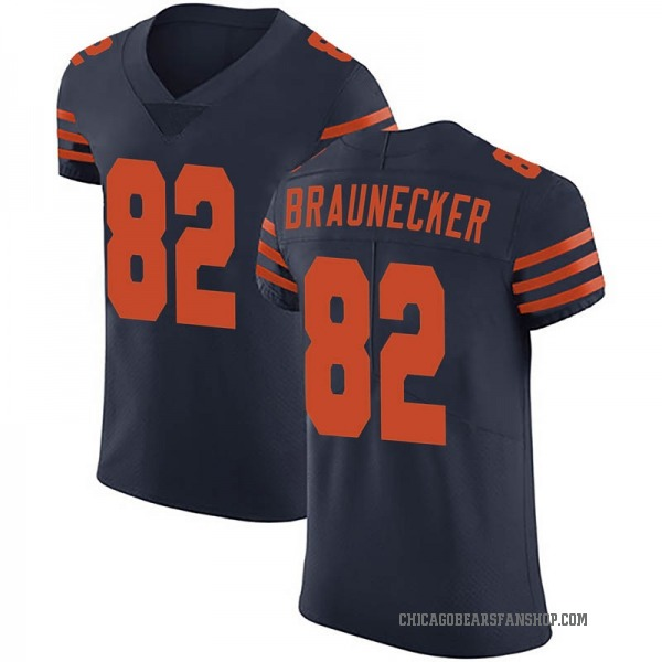 Ben Braunecker Chicago Bears Elite Navy Blue Alternate Vapor Untouchable Jersey