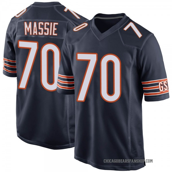 Bobby Massie Chicago Bears Game Navy Team Color Jersey