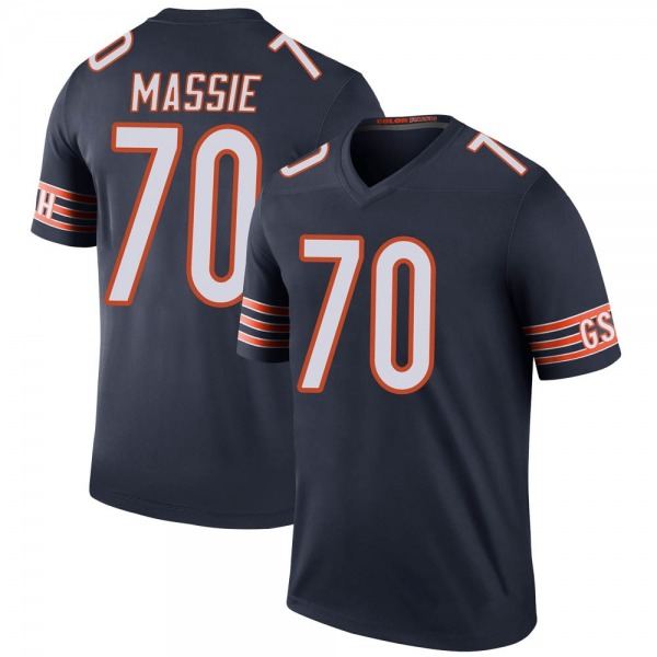 Bobby Massie Chicago Bears Legend Navy Color Rush Jersey