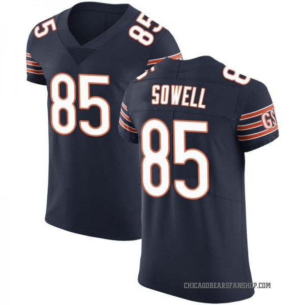 Bradley Sowell Chicago Bears Elite Navy Team Color Vapor Untouchable Jersey