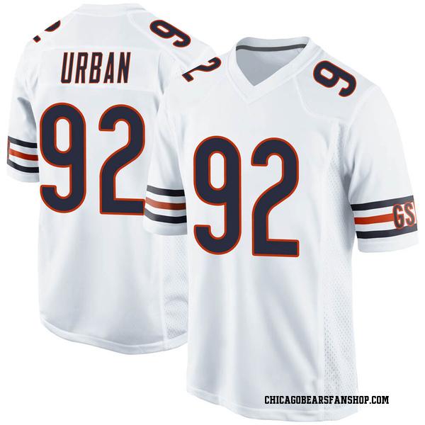 Brent Urban Chicago Bears Game White 100th Season Jersey