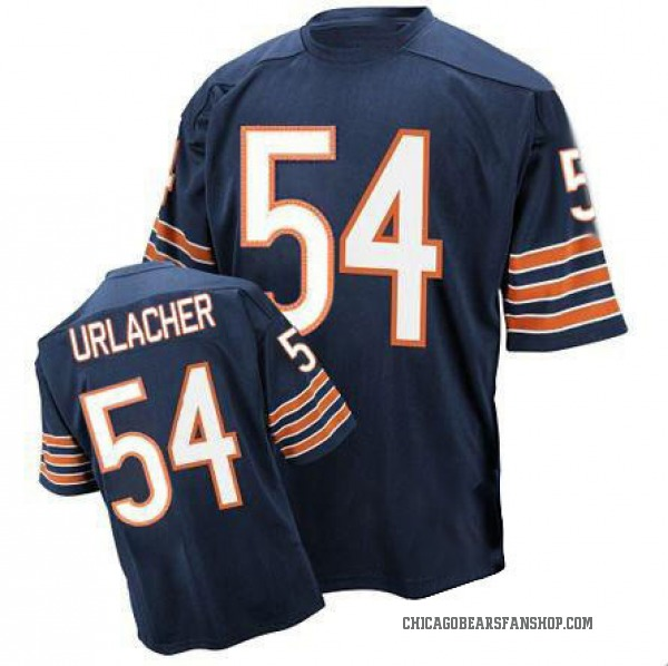Brian Urlacher Chicago Bears Authentic Blue Team Color Throwback Jersey