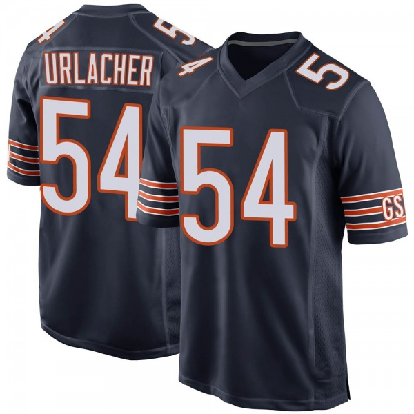 Brian Urlacher Chicago Bears Game Navy Team Color Jersey