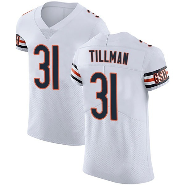 Charles Tillman Chicago Bears Elite White Vapor Untouchable Jersey