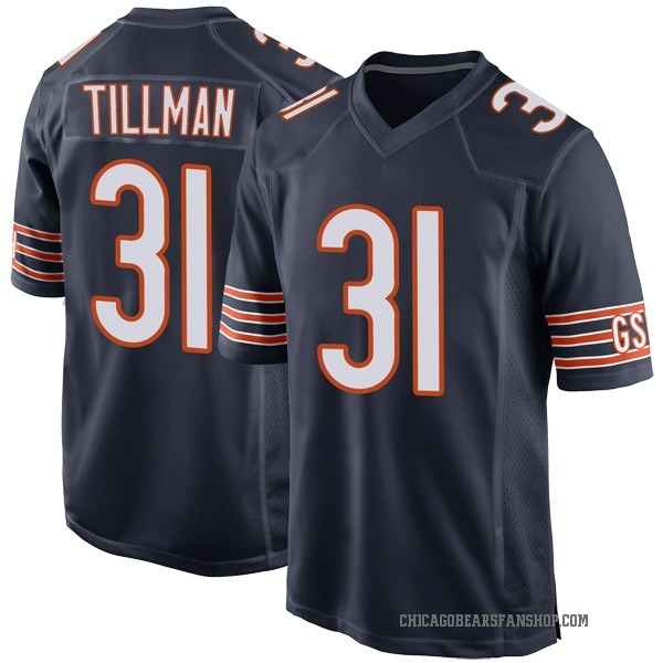 Charles Tillman Chicago Bears Game Navy Team Color Jersey