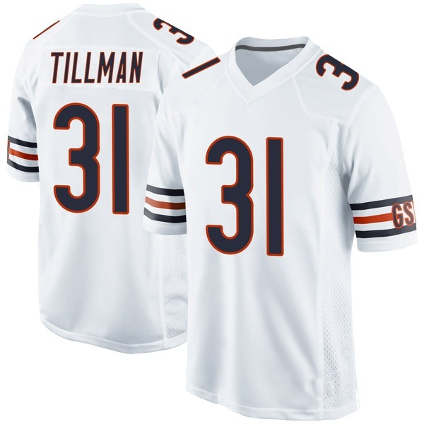 Charles Tillman Chicago Bears Game White Jersey