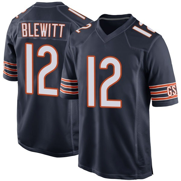 Chris Blewitt Chicago Bears Game Navy Team Color Jersey