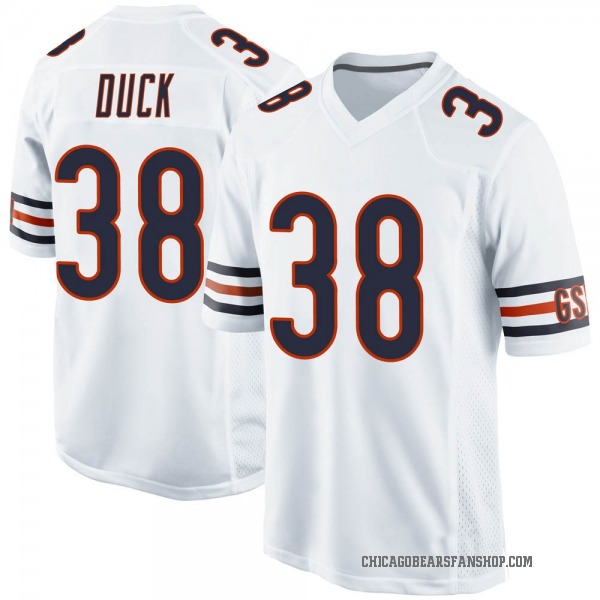 Clifton Duck Chicago Bears Game White Jersey
