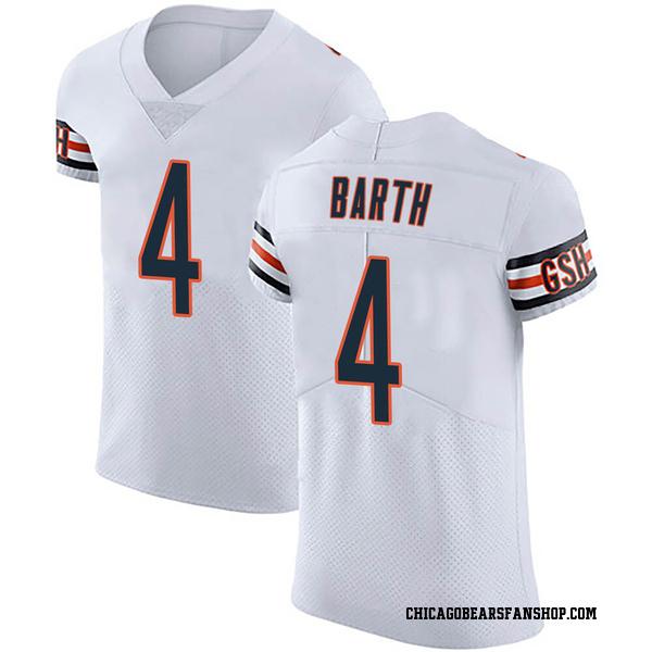 Connor Barth Chicago Bears Elite White Vapor Untouchable Jersey