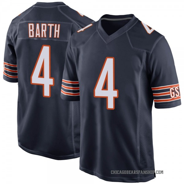 Connor Barth Chicago Bears Game Navy Team Color Jersey
