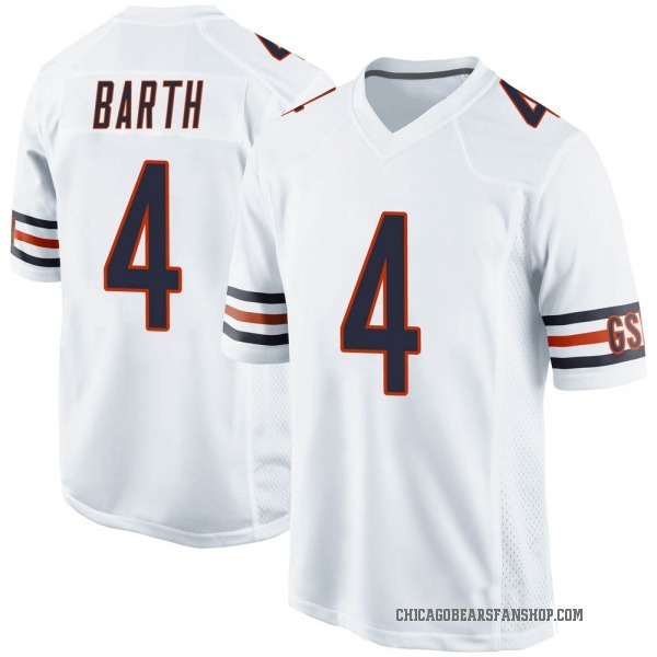 Connor Barth Chicago Bears Game White Jersey