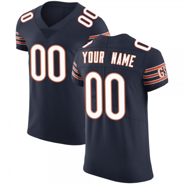 Custom Chicago Bears Elite Navy Team Color Vapor Untouchable Jersey