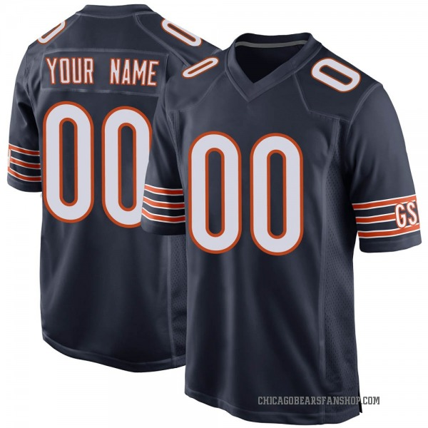 Custom Chicago Bears Game Navy Team Color Jersey