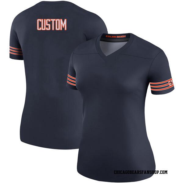 Custom Chicago Bears Legend Navy # # Color Rush Jersey