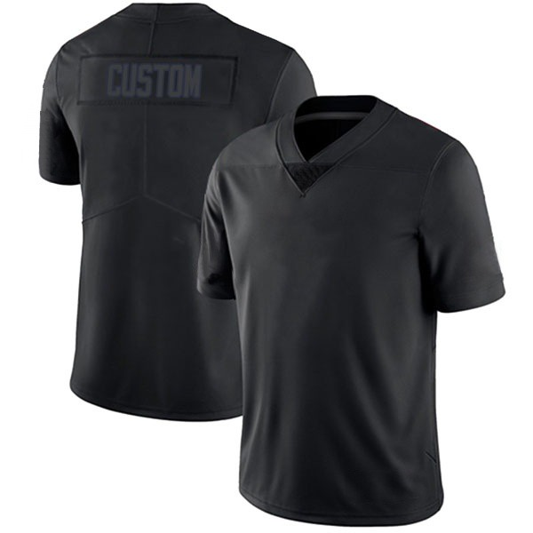 Custom Chicago Bears Limited Black Impact # # Jersey