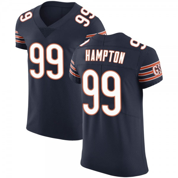 Dan Hampton Chicago Bears Elite Navy Team Color Vapor Untouchable Jersey