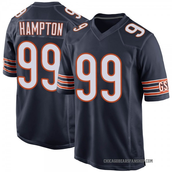Dan Hampton Chicago Bears Game Navy Team Color Jersey
