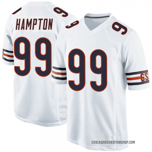 Dan Hampton Chicago Bears Game White Jersey