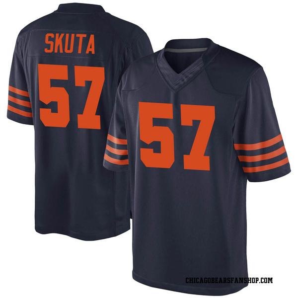 Dan Skuta Chicago Bears Game Navy Blue Alternate Jersey