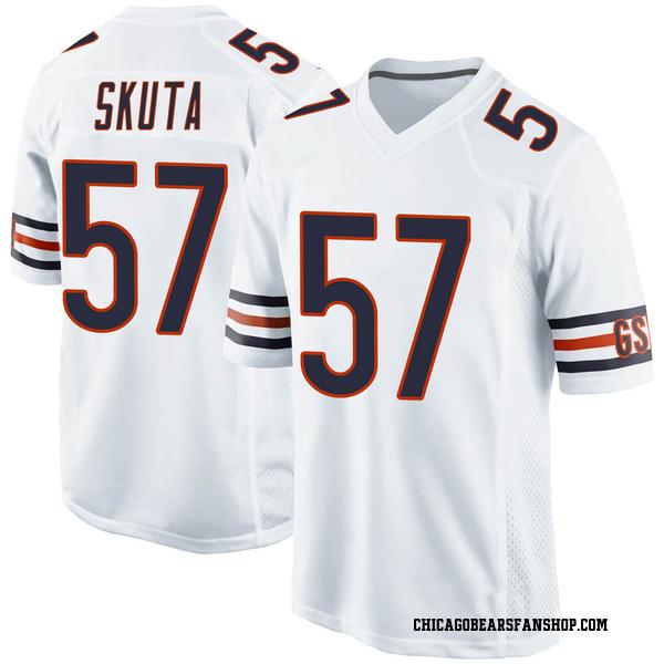 Dan Skuta Chicago Bears Game White Jersey