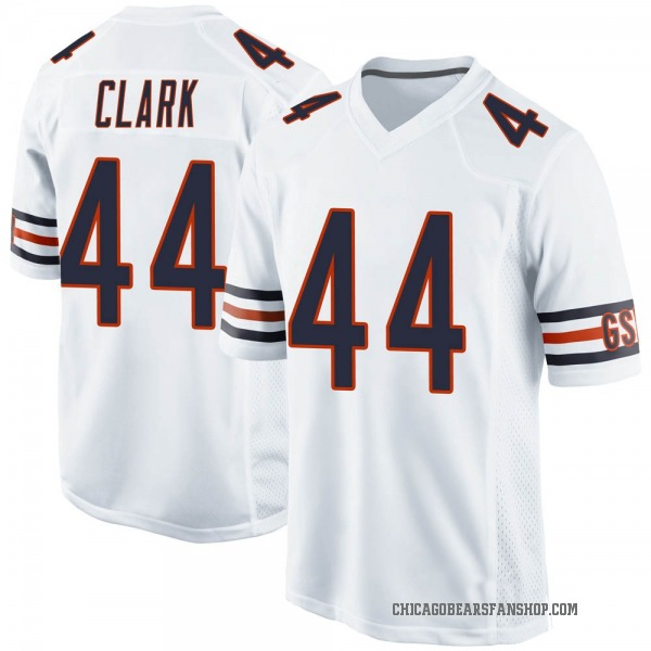 Darion Clark Chicago Bears Game White Jersey