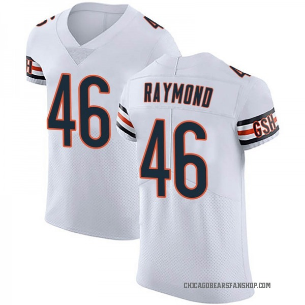 Dax Raymond Chicago Bears Elite White Vapor Untouchable Jersey