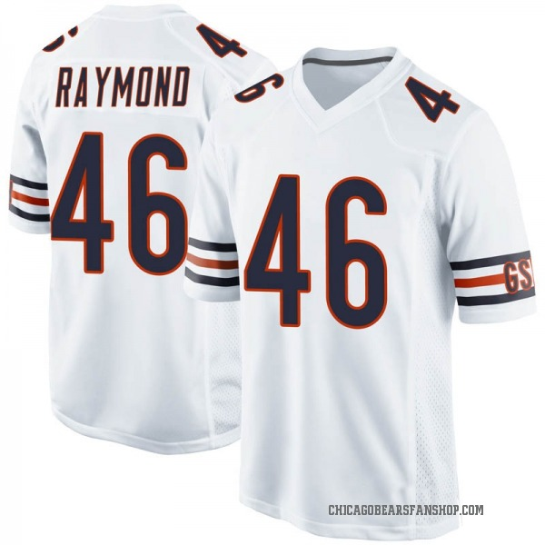 Dax Raymond Chicago Bears Game White Jersey