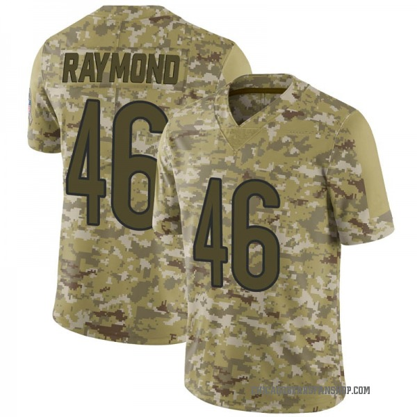 Dax Raymond Chicago Bears Limited Camo 2018 Salute to Service Jersey