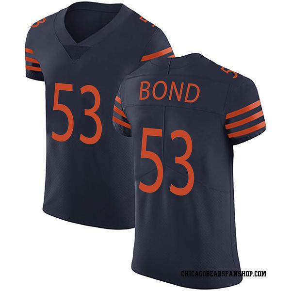 Devante Bond Chicago Bears Elite Navy Blue Alternate Vapor Untouchable Jersey