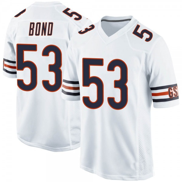 Devante Bond Chicago Bears Game White 100th Season Jersey
