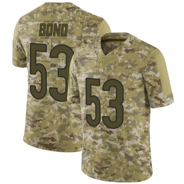 Devante Bond Chicago Bears Limited Camo 2018 Salute to Service Jersey