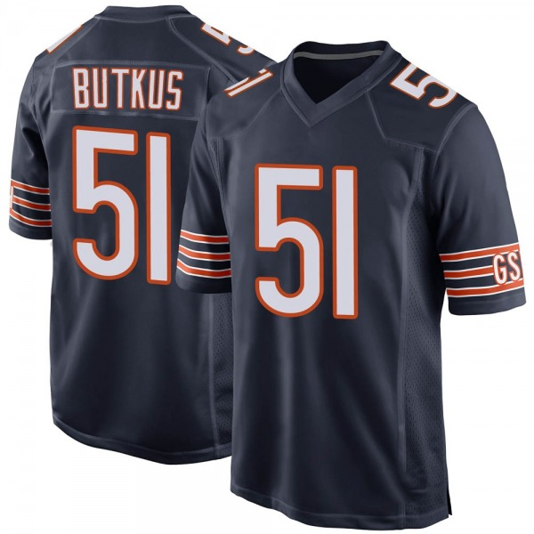 Dick Butkus Chicago Bears Game Navy Team Color Jersey