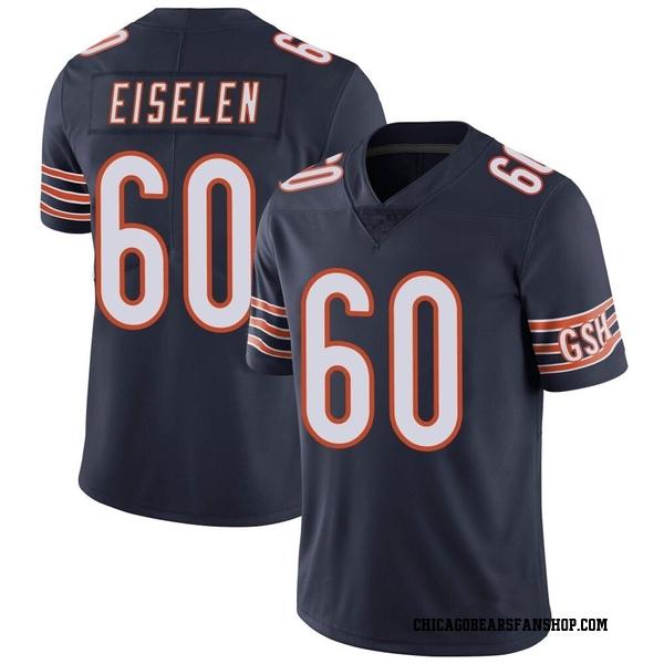 Dieter Eiselen Chicago Bears Limited Navy Team Color Vapor Untouchable Jersey