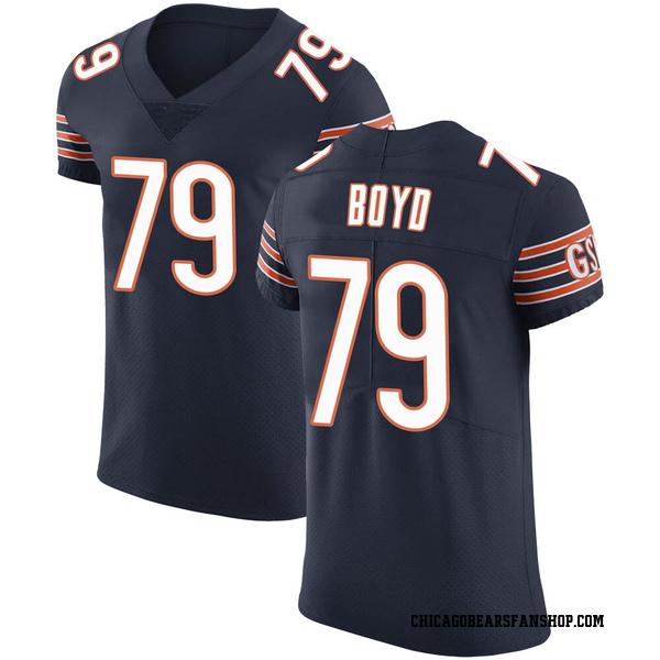 Dino Boyd Chicago Bears Elite Navy Team Color Vapor Untouchable Jersey