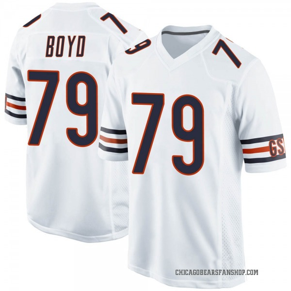 Dino Boyd Chicago Bears Game White Jersey