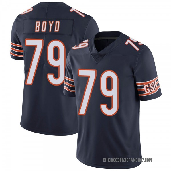 Dino Boyd Chicago Bears Limited Navy Team Color Vapor Untouchable Jersey