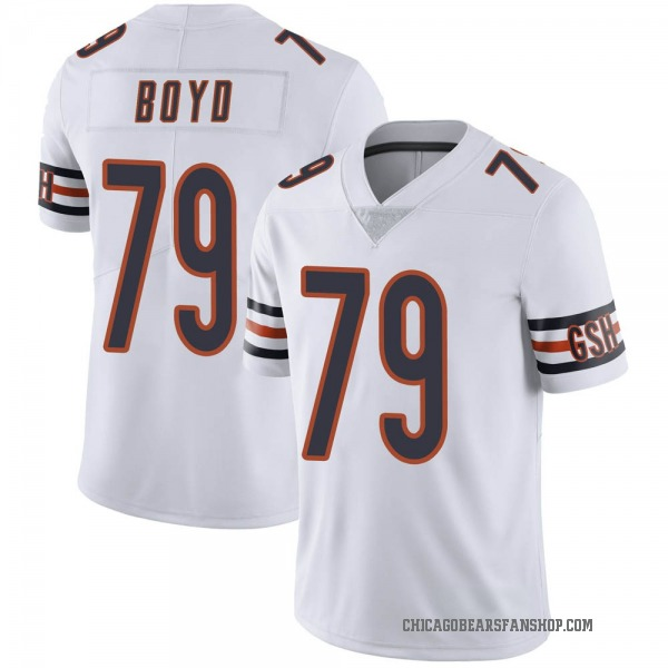 Dino Boyd Chicago Bears Limited White Vapor Untouchable Jersey