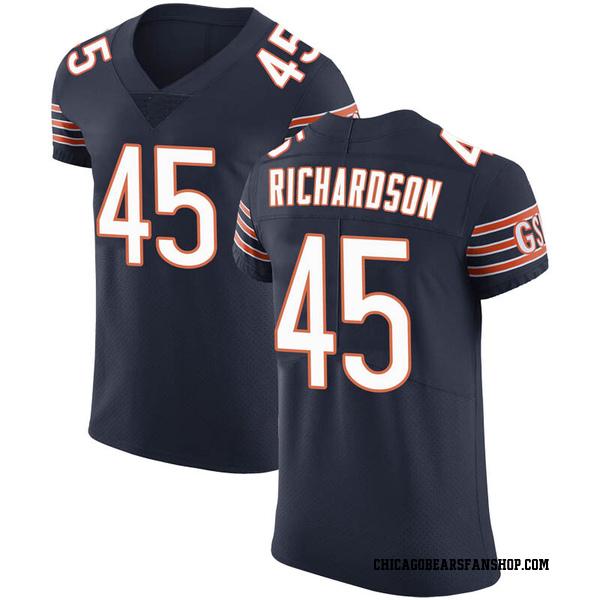 Ellis Richardson Chicago Bears Elite Navy Team Color Vapor Untouchable Jersey