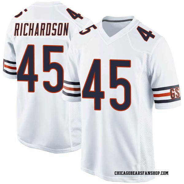 Ellis Richardson Chicago Bears Game White Jersey